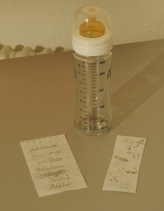 Skizze auf Butterbrotpapier