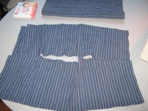 Genähte Rückseite des Kissens ohne Reißverschluss